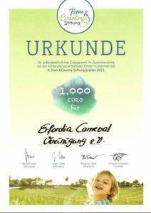 Stiftungspreis 2021 der Town & Country Stiftung